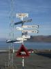 Richtungsweiser Flughafen Spitzbergen