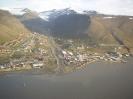 Ort Longyearbyen aus der Luft